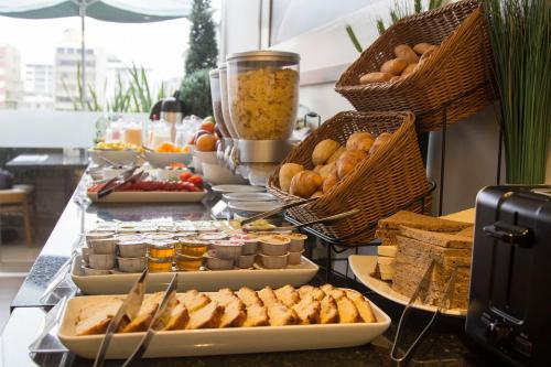 Breakfast options available to guests at Tierra Viva Miraflores Larco