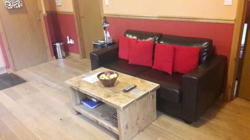 A seating area at West Highland Way Holidays