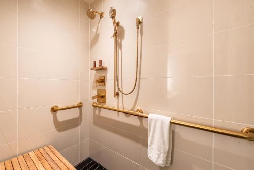 A bathroom at Conrad Chicago