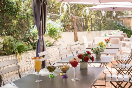 Restaurant ou autre lieu de restauration dans l'établissement Hotel Villa Rosa