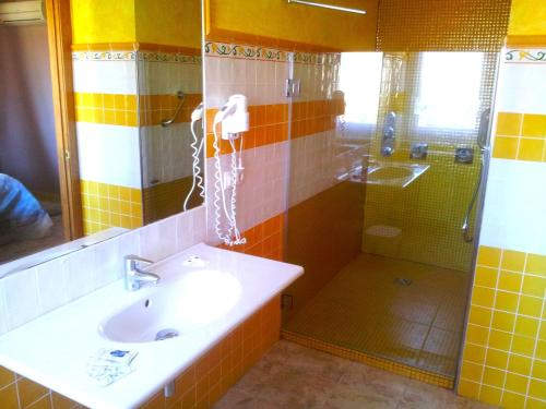 A bathroom at Posada Valle de Güemes