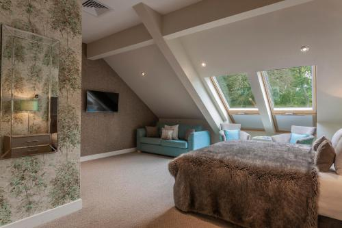 A bed or beds in a room at Orsett Hall