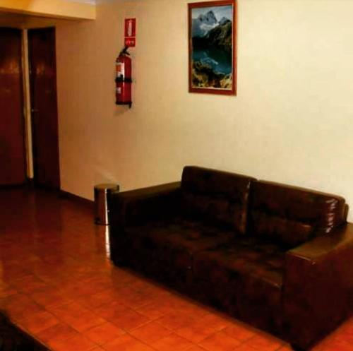 A seating area at Hotel Independencia