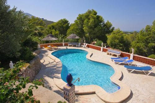 Vista de la piscina de Denia Villa Sleeps 8 Pool Air Con WiFi o alrededores