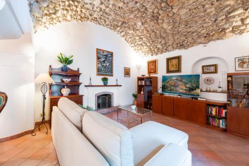 A seating area at Casa Claudius - Positano