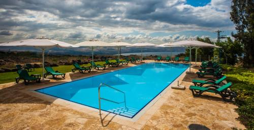 The swimming pool at or near Vered Hagalil Holiday Village Hotel