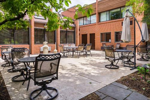 A porch or other outdoor area at Quality Inn & Suites