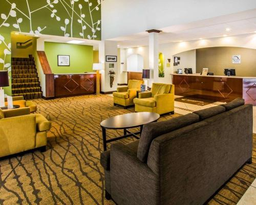 A seating area at Sleep Inn & Suites Orlando Airport