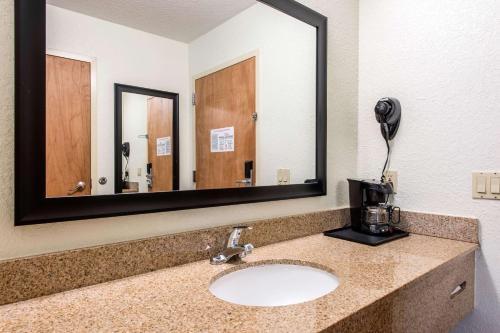 A bathroom at Quality Inn & Suites Near the Theme Parks