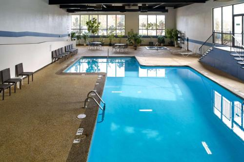 The swimming pool at or near Clarion Hotel Airport Portland