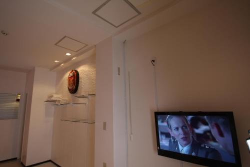 A television and/or entertainment center at Vann Amor Apartment Takenotsuka