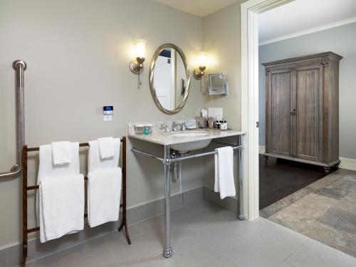 A bathroom at The Barracks Inn