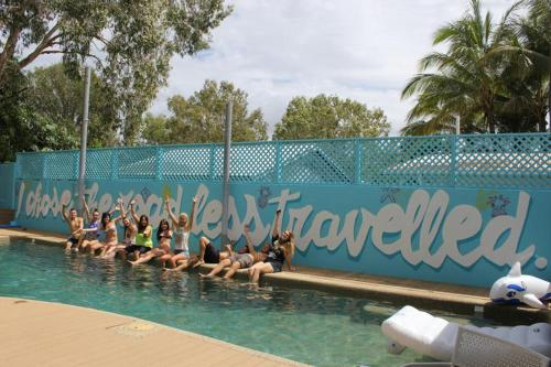 The swimming pool at or near Port Douglas Backpackers