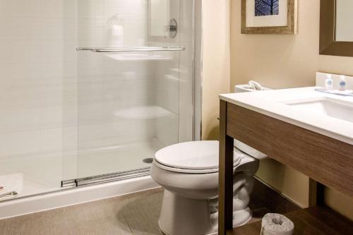 A bathroom at Comfort Inn Airport Dorval