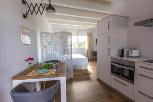 Een keuken of kitchenette bij Llucmaçanes Gran Agroturismo