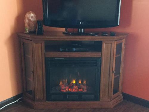A television and/or entertainment center at KMJ Casita Rentals