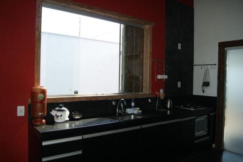 A bathroom at Casa na cidade com ares de campo