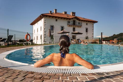 The swimming pool at or near Palacio de Yrisarri by IrriSarri Land