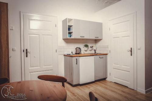 Kuchnia lub aneks kuchenny w obiekcie Apartamenty 21