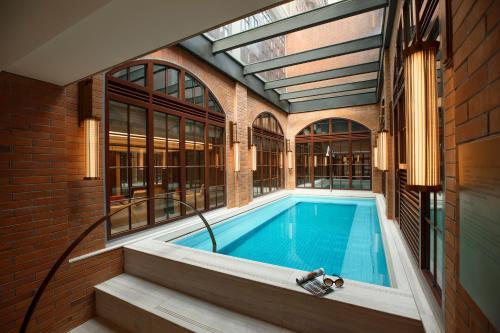The swimming pool at or near Capella Shanghai, Jian Ye Li