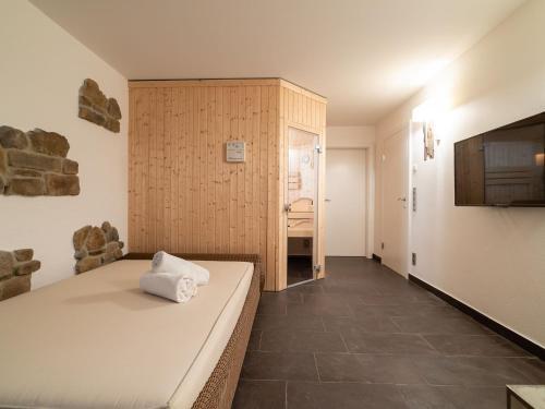 Ein Bett oder Betten in einem Zimmer der Unterkunft Chalet Bellevue