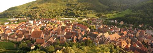 A bird's-eye view of Hotel Les Remparts