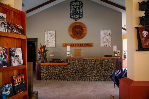 El vestíbulo o zona de recepción de Vista Ballena