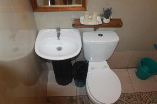 A bathroom at Novie's Tourist Inn