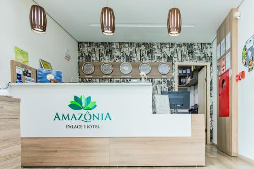 The lobby or reception area at Amazônia Palace Hotel