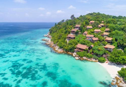 Blick auf Serendipity Beach Resort Koh Lipe aus der Vogelperspektive