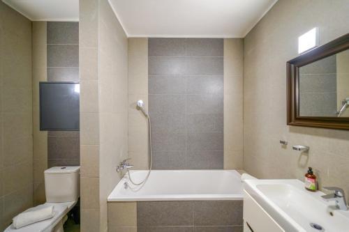 A bathroom at Vesna Convenient Apartment