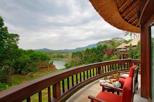 A balcony or terrace at Taman Wana Resort