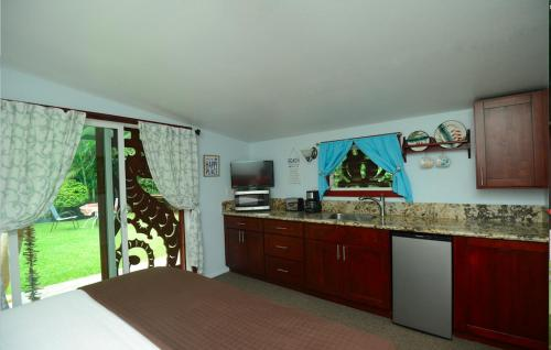 A kitchen or kitchenette at Kalani Hawaii Private Lodging