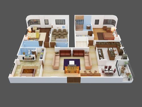 The floor plan of JAS Exotica