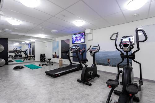 Het fitnesscentrum en/of fitnessfaciliteiten van Urban Lodge Hotel