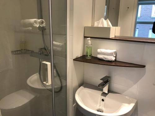 A bathroom at Rust B&B