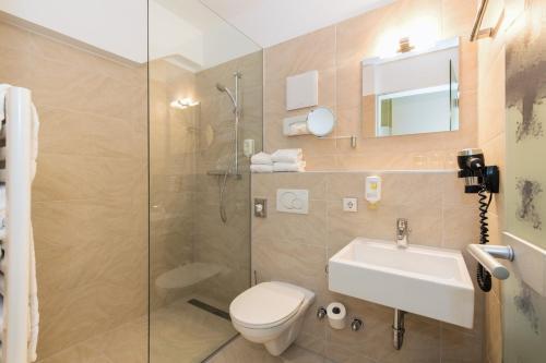 Ein Badezimmer in der Unterkunft Basic Hotel Innsbruck