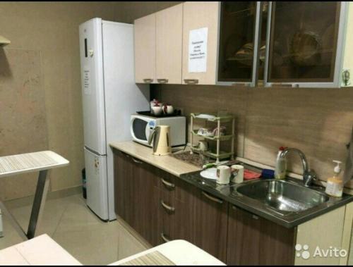Кухня или мини-кухня в Хостел Русь