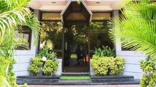 The facade or entrance of Hotel Rajavihar