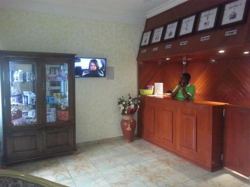 The lobby or reception area at Hotel - Y