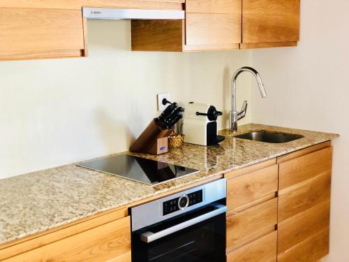 Una cocina o zona de cocina en Hotel Abaco Altea
