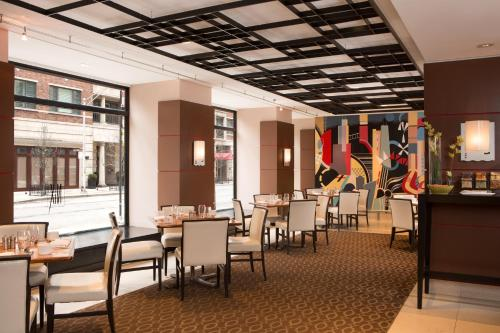 A restaurant or other place to eat at Millennium Knickerbocker Chicago