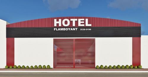 The floor plan of HOTEL FLAMBOYANT