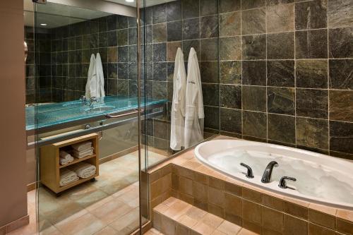 A bathroom at Inn at the Forks