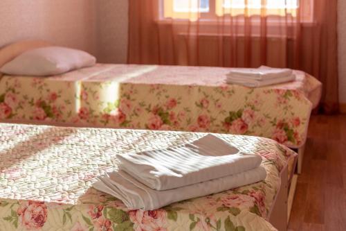 Кровать или кровати в номере Апартаменты «Albergo»