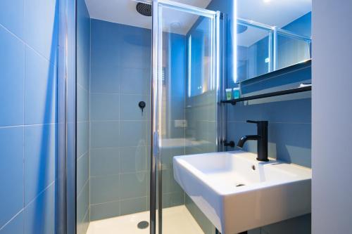 Salle de bains dans l'établissement Amistad hotel