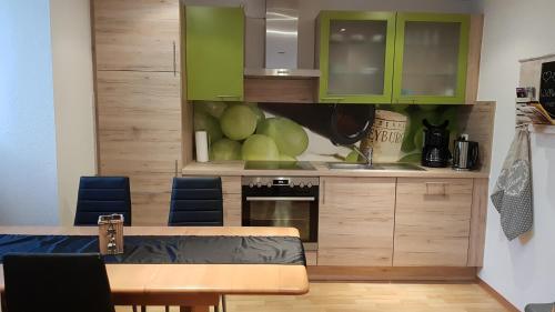 Küche/Küchenzeile in der Unterkunft Schneckenhaus