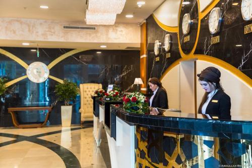 Лобби или стойка регистрации в Отель Грозный Сити