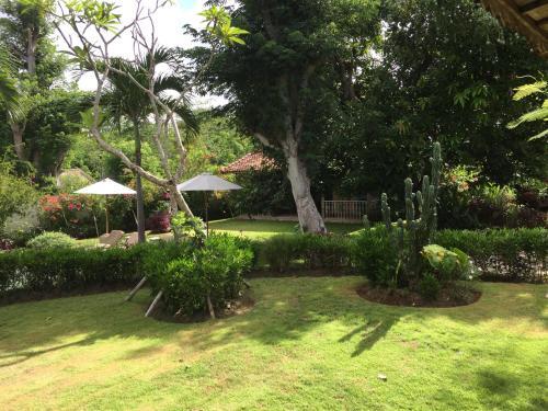 A garden outside Villa Dedaren Bingin Beach