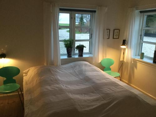 En eller flere senge i et værelse på Bed & Breakfast du Nord